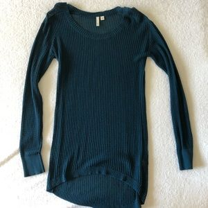 Frenchi Long Sleeve Teal Sweater